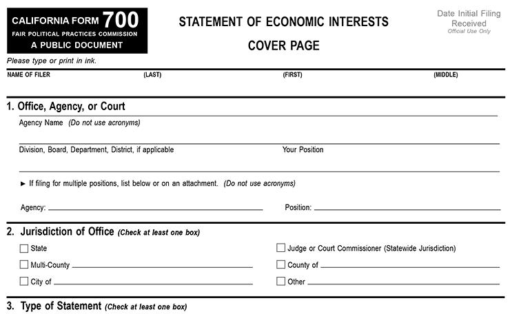 Form 700 image