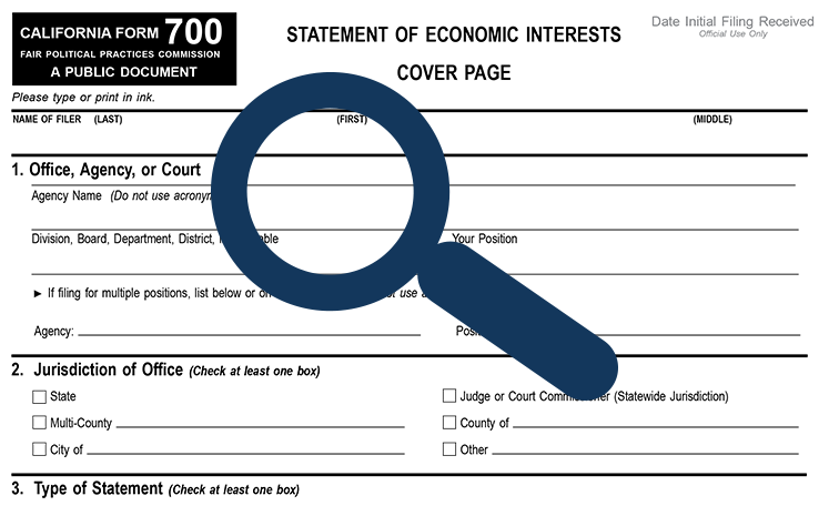 Statement of Economic Interests – City Officer Disclosure – San
